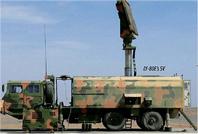 Search radar vehicle from HQ-16A (LY-80) air defence missile system battery unit