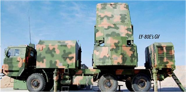 Tracking/guidance radar vehicle from HQ-16A (LY-80) air defence missile system battery unit