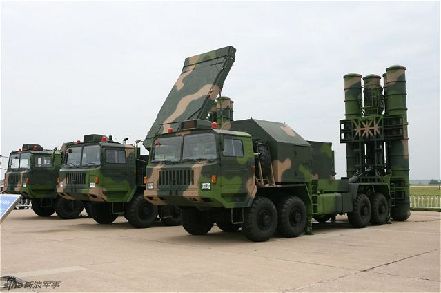 HQ-9 ground-to-air medium range air defense missile technical data sheet specifications pictures information description intelligence photos images video identification tracked armoured vehicle China army defense industry military technology CPMIEC