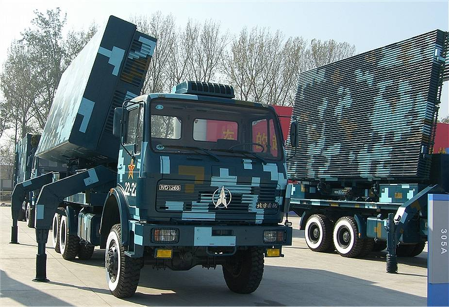 Type 305A 3D acquisition radar for HQ 9 air defense missile China Chinese army defense industry 925 001