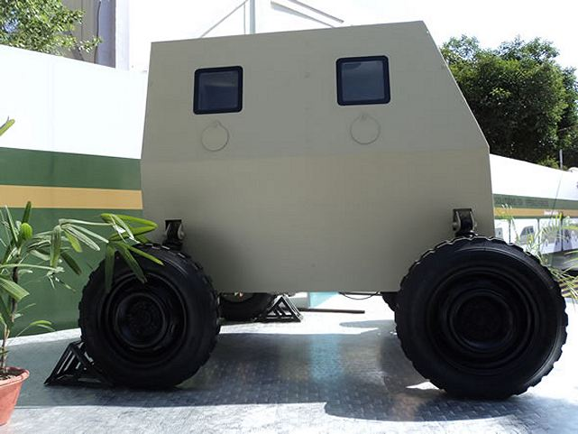 Tata Motors showcased a new Micro Bullet-Proof Vehicle (MBPV) at DEFEXPO India 2012, a highly mobile combat vehicle for indoor combat inside airports, railway stations and other such infrastructure. The concept is the first of its kind design to assist the country's elite forces in indoor combat.