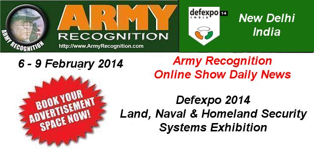Your advertising in the online daily news DefExpo 2014 Army Recognition for request Click here