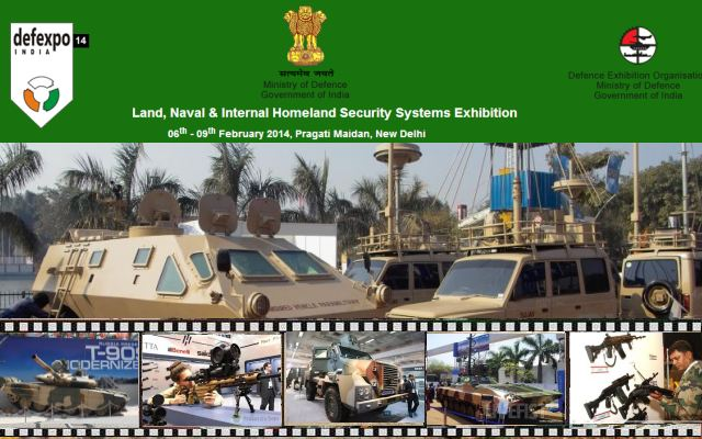 DefExpo 2014 pictures video Web TV Televsion photos images land Naval Internal Homeland Security Systems Exhibition New Delhi India Indian defense industry military technology