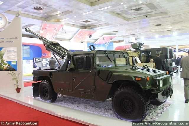 The Defense Company of India, Kalyani group showcased a prototype of its ultra-light mobile 105mm field gun Garuda-105 mounted at the rear of a light tactical vehicle Humvee at the Defence Exhibition of India, Defexpo. The Company wants to place itself as a major player in the artillery business as India opens defence procurement to private players.