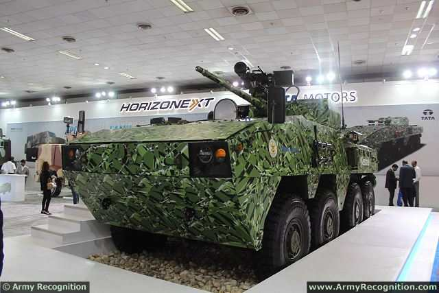 "At DefExpo 2014, the Land, Naval & Internal Homeland Security Systems Exhibition in New Delhi, the Indian Defense Company TATA Motors unveils its new local-made 8x8 amphibious armoured vehicle platform, the ""Kestrel"". The KESTREL is a Wheeled Armored Amphibious Platform, designed and developed indigenously with DRDO, for optimised survivability, all-terrain performance and increased lethality."