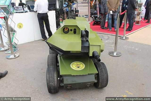 "The research and development establishment of India has developed the ""RUDRA"", a new gun mounted remotely operated vehicle. The RUDRA is especially designed for Army and Paramilitary forces to provide an autonomous vehicle to perform counter insurgency operations, hostage situations and hold-ups within buildings reducing risk for the soldiers."