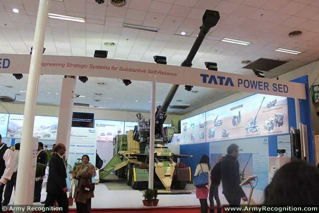 At Defexpo 2014, the International Defense Exhibition in New Delhi, the Company TATA Motors unveils its latest project of artillery system with a new wheeled howitzer. A 155 mm 52 caliber howitzer is mounted on an eight-wheeled Tata military truck to enhanced mobility.