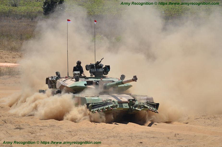Arjun Mark 2 latest generation of Indian tank in live demonstration at DefExpo 2018 925 002