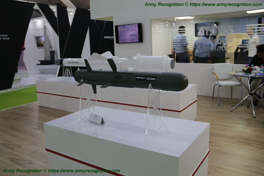 L and T MBDA presents 5th generation of anti tank guided missile at DefExpo 2018 925 001