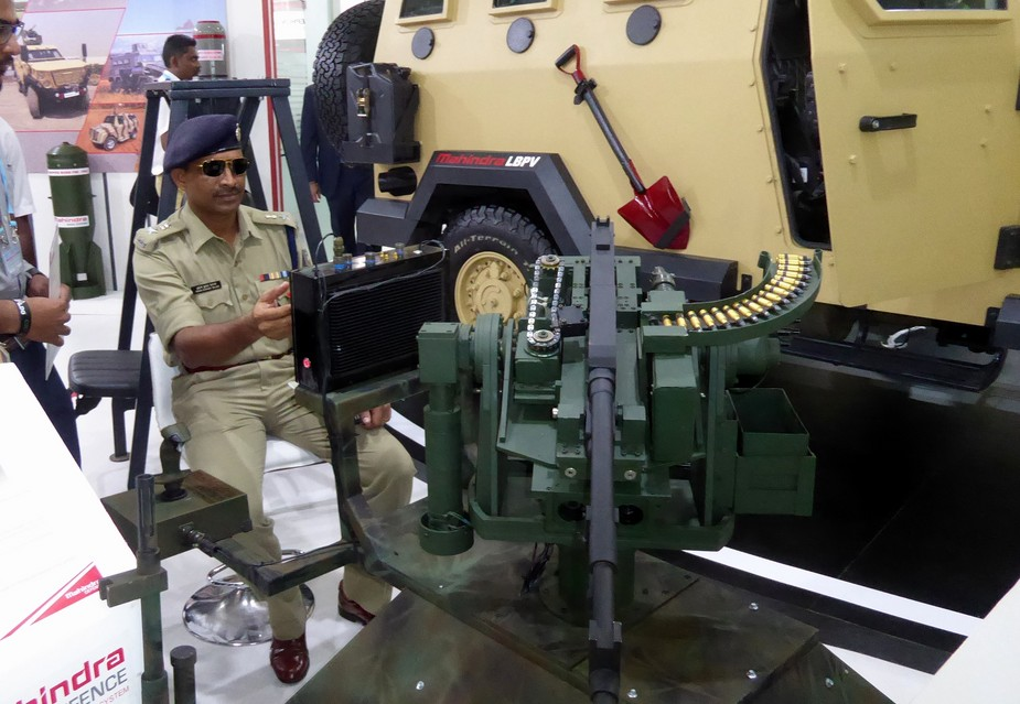 Mahindra Defence Systems remote weapon station demonstrated