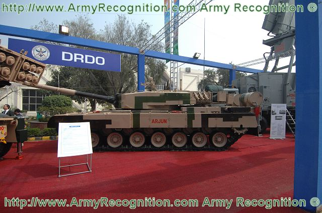 Arjun Mk-I MBT Main Battle Tank technical data pictures | India