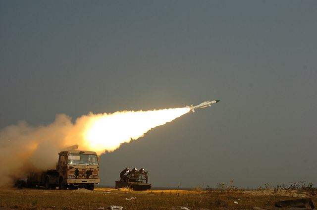 India Saturday, May 26, 2012, successfully test-fired its medium-range Akash surface-to-air missile for the second time in three days from a defence base in Odisha, an official said.