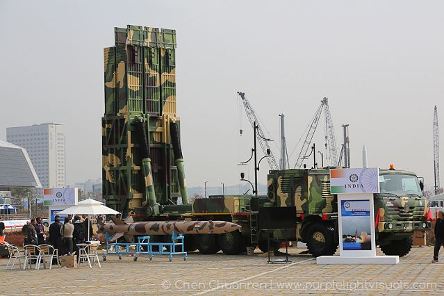 "India is showcasing for the first time its newly developed ""Pragati"" tactical surface-to-surface missile at the International Aerospace and Defence Exhibition ADEX-2013. The missile, developed by the Defence Research and Development Organisation (DRDO), has a range of 60-170 km."