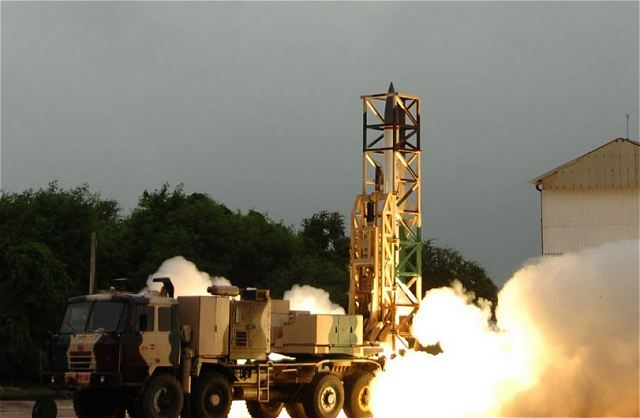 DRDO Defence Company of India successfully flight tested its latest surface to surface missile Prahaar at 08.20 A.M on 21st July 2011 from Launch Complex III, off Chandipur Coast, ITR, Balasore, Orissa. The missile with a range of 150 km, comparable to ATACMS Missile of United States of America, fills the vital gap between Multi Barrel Rockets and Medium range Ballistic Missiles.