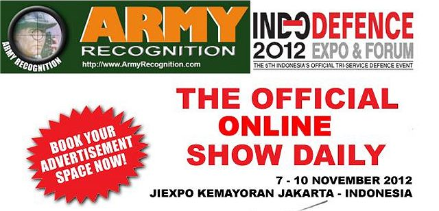 Book advertisement space  to the Official online Show Daily News Indo Defence 2012
