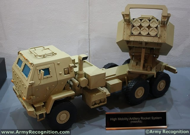 One of the key systems on display at the Lockheed Martin booth during the International Tri-Service defense Exhibition IndoDefence 2012, was a model of the HIMARS. The High Mobility Artillery Rocket System is a wheeled launcher that delivers a lethal mix of precision munitions.