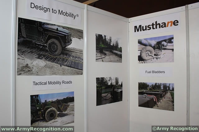 At the International Tri-Service defense Exhibition IndoDefence 2012, French company Musthane presented for the first time its MUSTmove Tactical Mobility Mats system: An innovative ground improvement system developped to increase the tactical mobility of armed forces and to assist aircraft recovery operations.