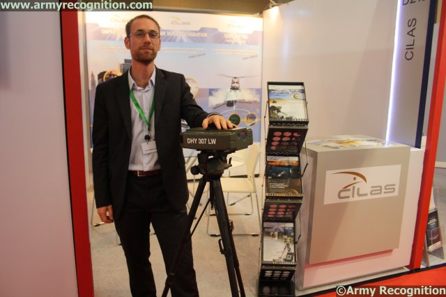 At IndoDefence-2014 exhibition, which is being held in Jakarta from November 5-8, CILAS is showcasing its ground laser target designator: the DHY 307. Laser target designation is one of CILAS' specialties. Its laser target designator has been successfully proven for guiding any type of laser-guided weapons such as bombs, missiles and artillery shells (NATO, Russian & Chinese ones).