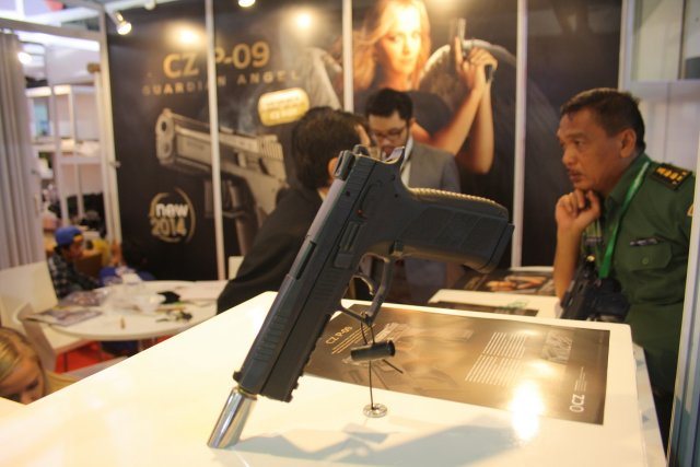 At IndoDefence 2014, which was held in Jakarta, Indonesia, CZ Ceská Zbrojovka, which is a long-standing and the most important Czech manufacturer of small arms and one of the most important armament factories in the world, has specially highlighted its newest product, the CZ P-09 9 mm pistol.