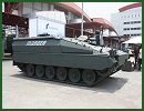The Indonesian Ministry of Defence recently contracted with German Company Rheinmetall to supply 42 Marder 1A3 infantry fighting vehicles. At IndoDefence 2014, the German Company Rheinmetall presents a new upgrade of the Marder armoured infantry vehicle under the name of Marder Evolution.