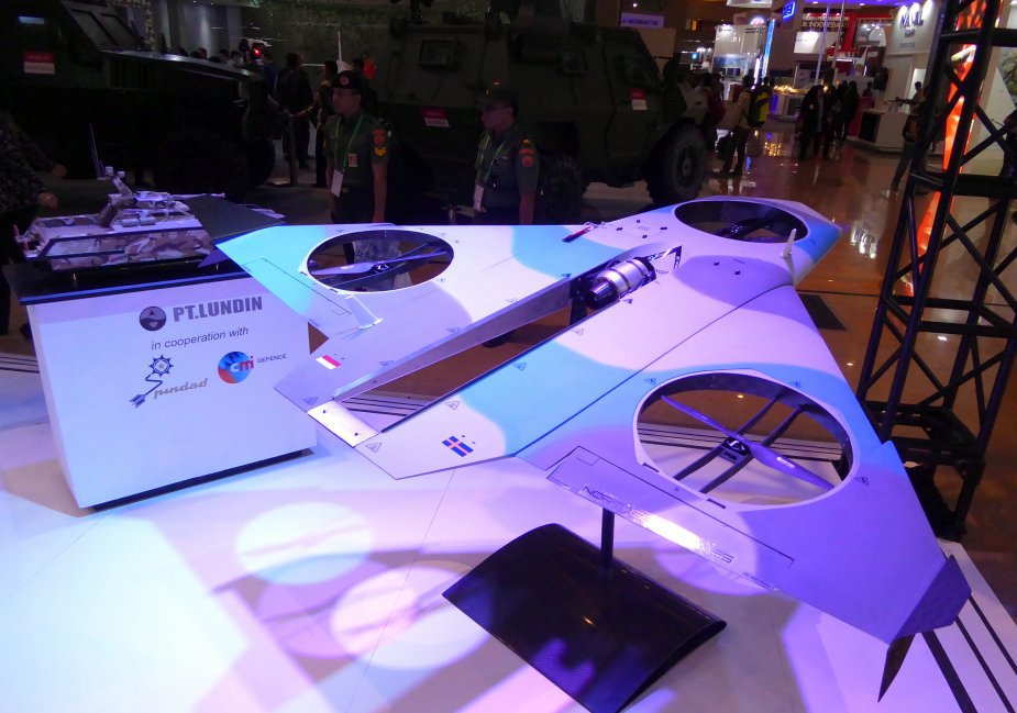 IndoDefence 2018 NorthSeaDrones unveils jet and prop STOVL drone