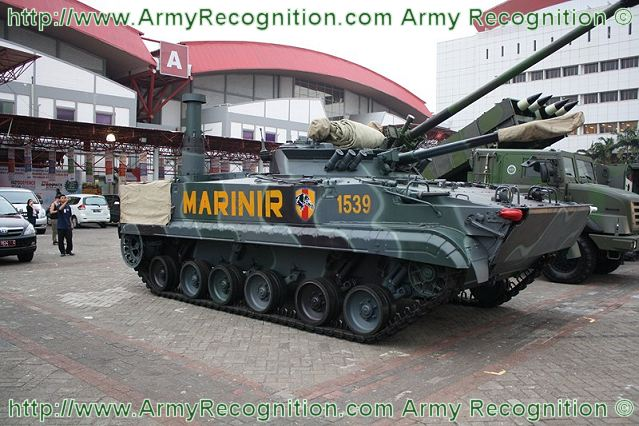Indonesia has ordered 37 BMP-3F amphibious armoured infantry fighting vehicles from Russia, in addition to the 17 ones already in service with the Marine Corps. Commander of Cavalry 1 mariner regiment of Indonesian Navy, Colonel Sarjito made the revelation at the Marine headquarters in Surabaya, East Java.