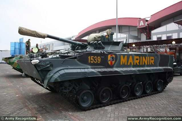 Russia will deliver 37 Russian-made armoured infantry fighting vehicles BMP-3F to the Indonsian armed forces. With this new vehicles, Indonesia has now a total of 54 vehicles in service with the Indonesian Navy Marine Corps.
