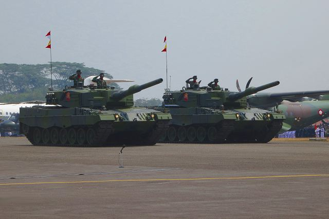 The Indonesian Ministry of Defence has contracted with the Rheinmetall Group of Düsseldorf to supply it with 103 Leopard 2A4 main battle tank and 43 Marder 1A3 tracked armoured infantry fighting vehicles , logistical support and ammunition worth roughly €216 million. The contract, which was signed in December 2012, now comes into full force following the successful completion of all legal formalities.