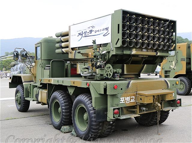 In response to the growing missile and rocket threat from the North, South Korea has developed the new 230mm multiple rocket launch system (K-MLRS) to replace its old 130mm K136 Kooryong MLRS fleet with the goal of completing the upgrade by later this year.