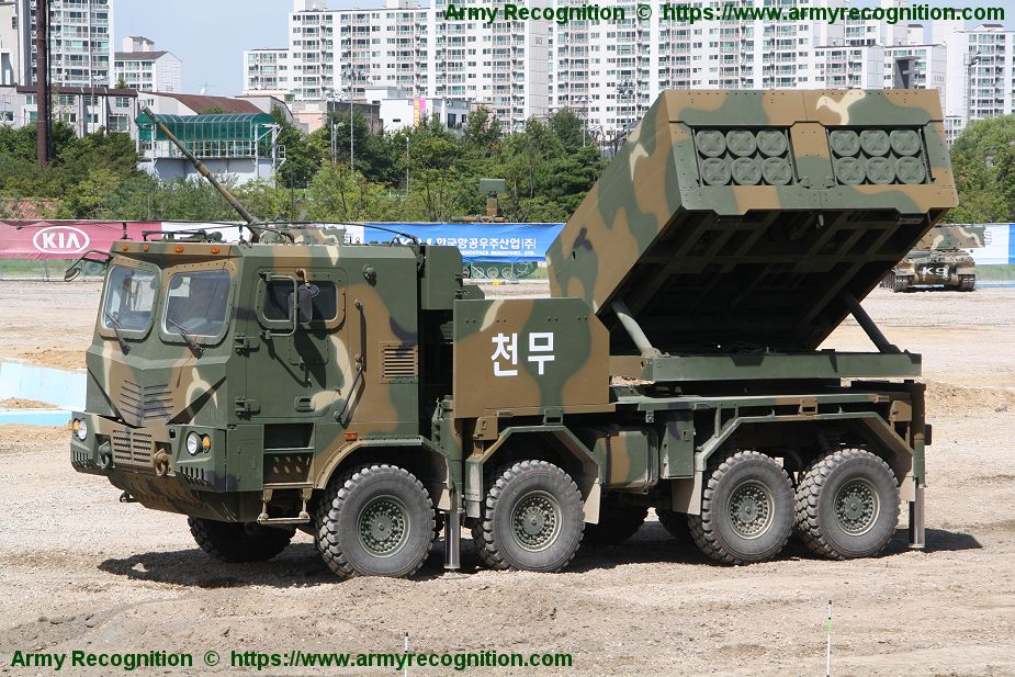 Chunmoo K239 multi caliber MLRS Multiple Launch Rocket System South Korean army 925 002