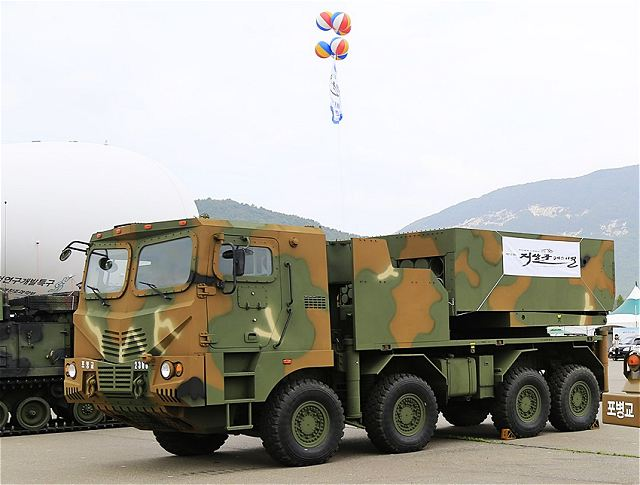 South Korean government has announced the purchase of 58 new multi-calibers K-MLRS Multiple Launch Rocket System, developed by the national Defense Company Chun Moo. The new system is able to fire different type of rockets 130 and 230mm.