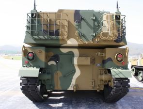 K9 thunder self propelled howitzer 155 MM back side