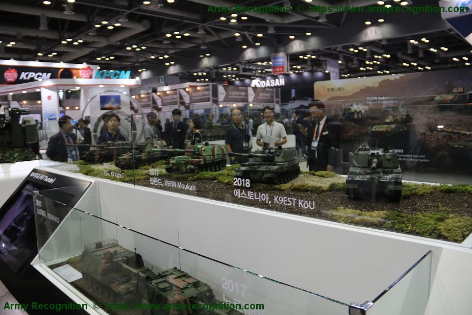 Global success for South Korean K9 155mm self propelled howitzer 925 001