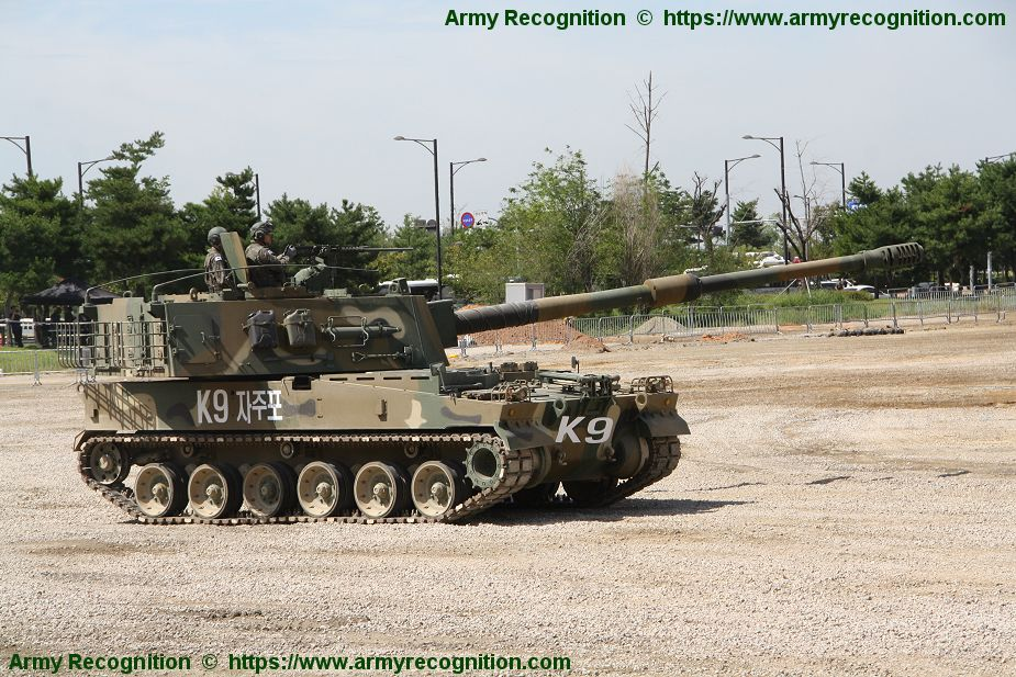 Global success for South Korean K9 155mm self propelled howitzer 925 002