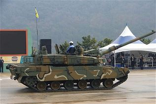 K2 Black Panther main battle tank Hyundai Rotem technical data sheet description information identification intelligence pictures photos images video South Korea Korean Army military equipment