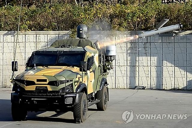 South Korea successfully fired off an Israeli precision-guided missile capable of striking North Korean coastal artillery on its Yellow Sea border islands last month, the Marine Corps said Friday, the first test-firing since their deployment on northwestern islands in May.
