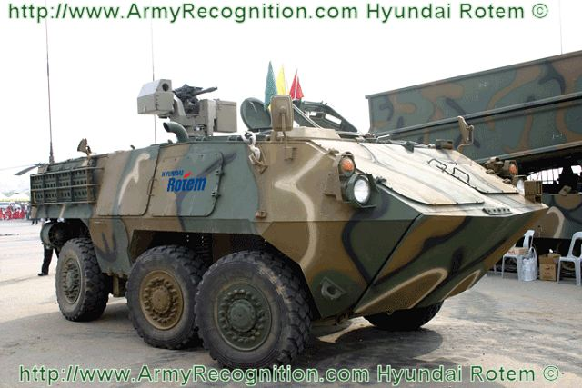 The South Korean Army will deploy 600 wheeled armored vehicles from 2016 to help build rapid-response forces modeled after U.S. Stryker combat brigades, according to the Defense Acquisition Program Administration (DAPA). The arms agency announced Hyundai Rotem, a subsidiary of Hyundai Motor Group, as the preferred bidder Nov. 26 to develop and produce those wheeled armored vehicles. The company beat a consortium of Samsung Techwin and Doosan D