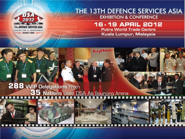 DSA 2012 pictures photos images video Defence 13th Exhibition Services Asia show conference Malaysia Kuala Lumpur Putra World trade Centre16 to 19 April 2012
