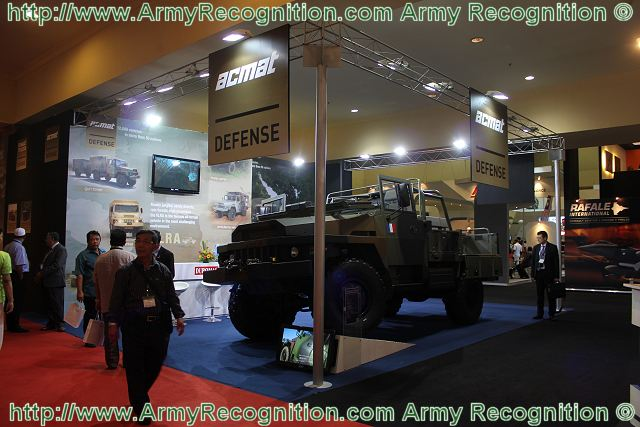 The new multi-role tactical vehicle VLRA TDN/TDE designed and manufactured by the French Company ACMAT is launched on the Asian market at DSA 2012, Defence Services Asia Exhibition. With its new design the VLRA TDN/TDE represents the future of light tactical vehicle in its category.