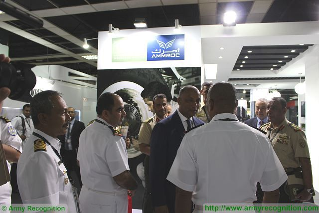Mister Fahad Al Shamesi CEO Chief Executive Officer (in the center) of AMMROC at DSA 2016, Defence Services Asia Exhibition, in Kuala Lumpur, Malaysia.
