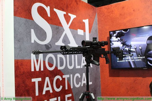 Austrian Company Ritter Stark presents its new SX-1 modular tactica rifle at DSA 2016 640 001