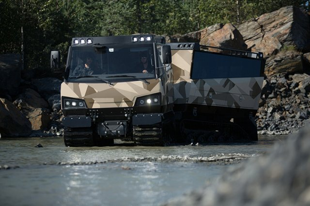 BAE exhibits its new BvS10 Beowulf all-terrain vehicle at DSA 2016 640 003