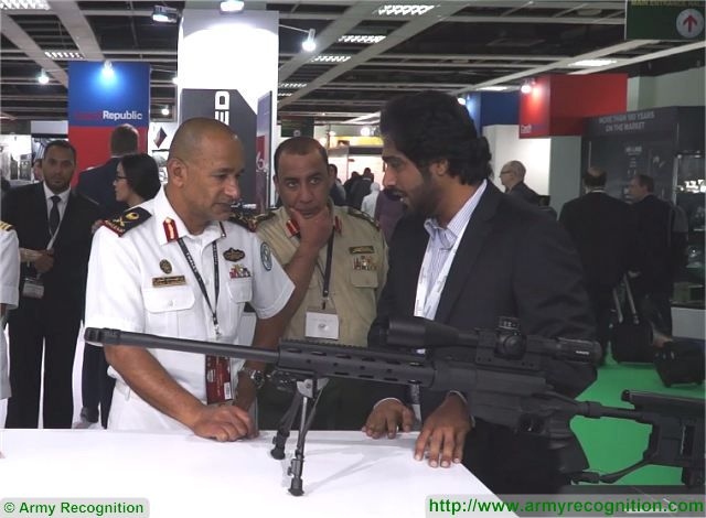 Mister Hamad Salem Al Ameri CEO Chief Executive Officer (on the right) of Caracal at DSA 2016, Defence Services Asia Exhibition, in Kuala Lumpur, Malaysia.