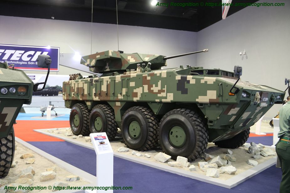 Deftech presents three variants of AV8 Gempita 8x8 armored for Malaysian army ATGW 925 001