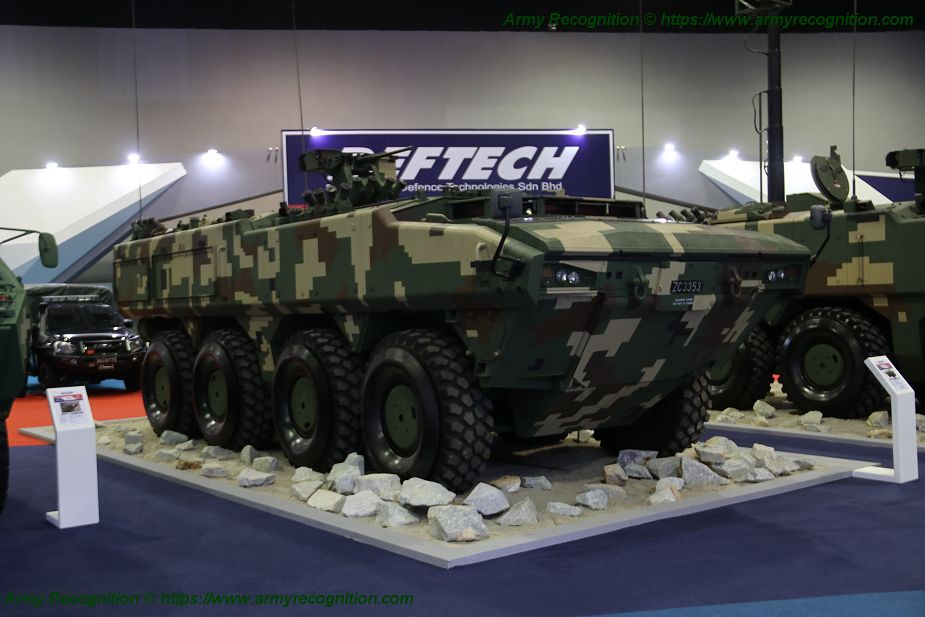Deftech presents three variants of AV8 Gempita 8x8 armored for Malaysian army RCWS 925 001