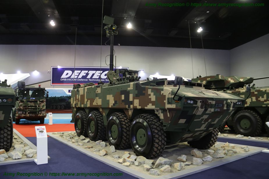 Deftech presents three variants of AV8 Gempita 8x8 armored for Malaysian army SURV 925 001