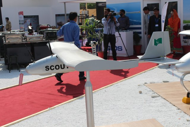 Pakistani company Global Industries and Defence Solutions, standing as the largest developer of Unmanned Aerial Vehicles in Pakistan, is presenting a whole range UAV solutions at IDEAS 2014 in Karachi by showcasing its Shahpar, Uqab, Scout and Sentry UAV systems.