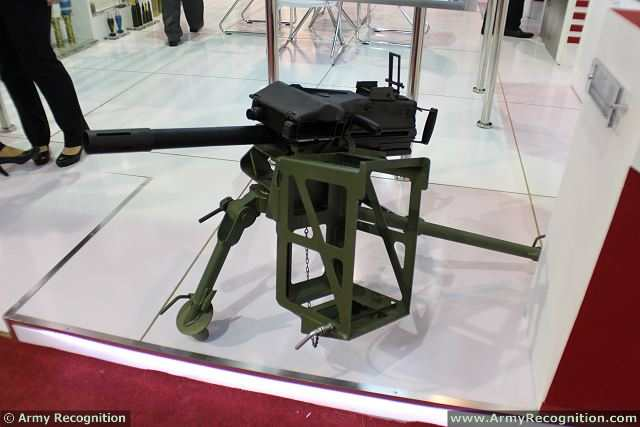 At IDEAS 2014, MKEK shows the U.S. Mk19 40mm grenade launcher which is produced under license by MKEK. According representatives of the Company, this weapon will be delivered to the Pakistani army in the next few months.