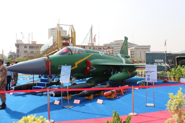 Today at IDEAS 2014, Pakistan's, Air Chief Marshal Tahir Rafique Butt NI(M) has said Nigeria and South Africa are taking interest in Pakistani JF-17 Thunder fighter aircraft, while Pakistan's training aircraft Mushaq is being used by Saudi Arab, Amman, Qatar and we are now exploring Iraq.