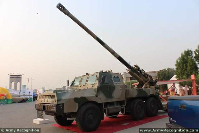 Defense Manufacturer NORINCO of China presents latest generation of 155mm 6x6 self-propelled howitzer called SH-1 at IDEAS 2014,the International Defense exhibition in Pakistan which takes place in Karachi from the 1 to 4 December 2014.